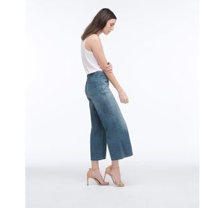 AG • the bobbie wide leg crop jeans